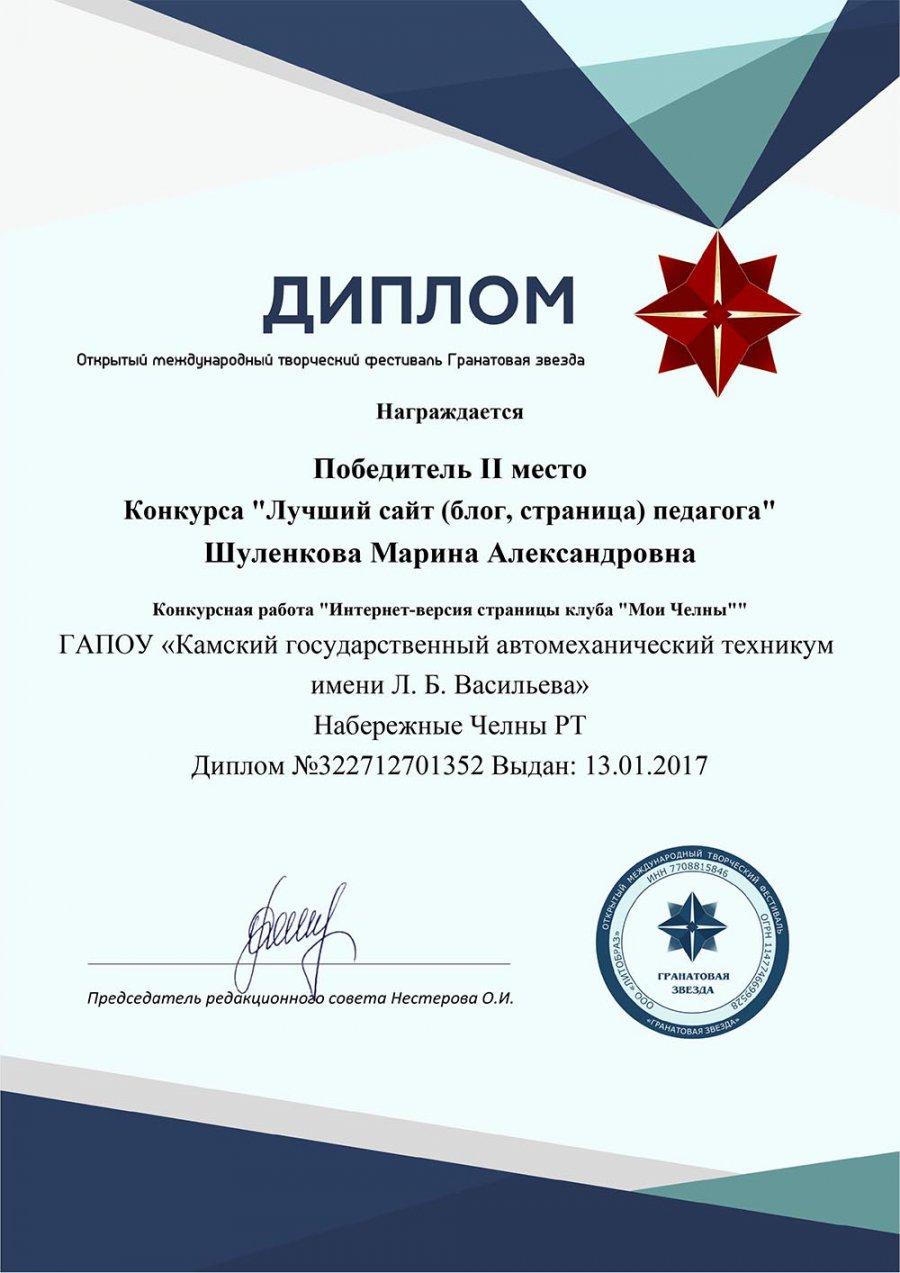 Участие в международном конкурсе лучший сайт педагога 2017