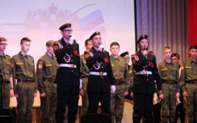 Торжественное вручение свидетельств об окончании военно-технического кадетского корпуса